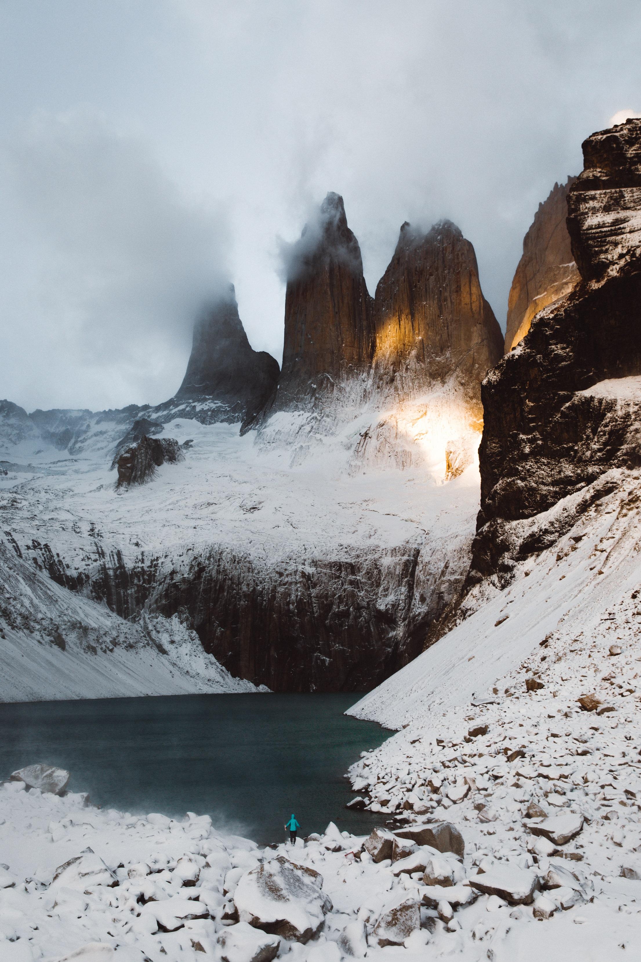 Torres del paine nevadas