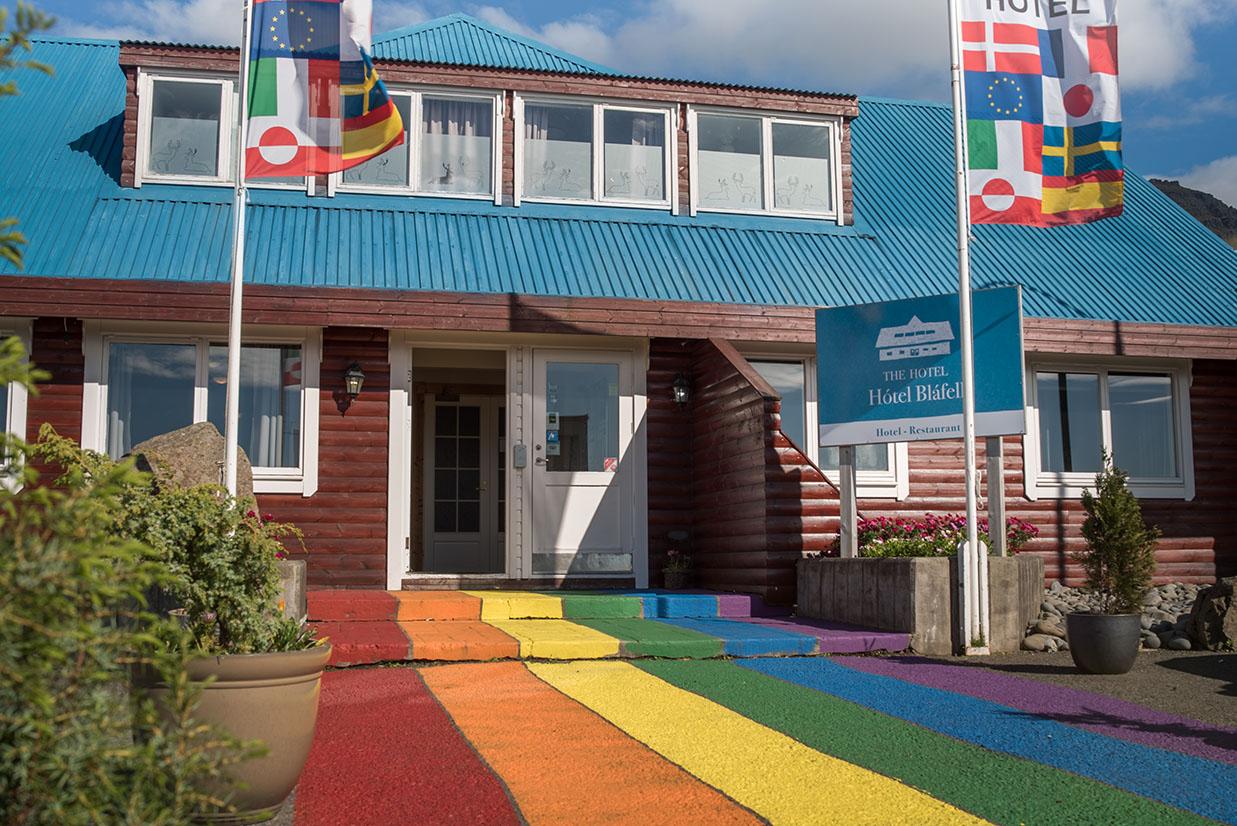 Hotel Blafell fachada Islandia