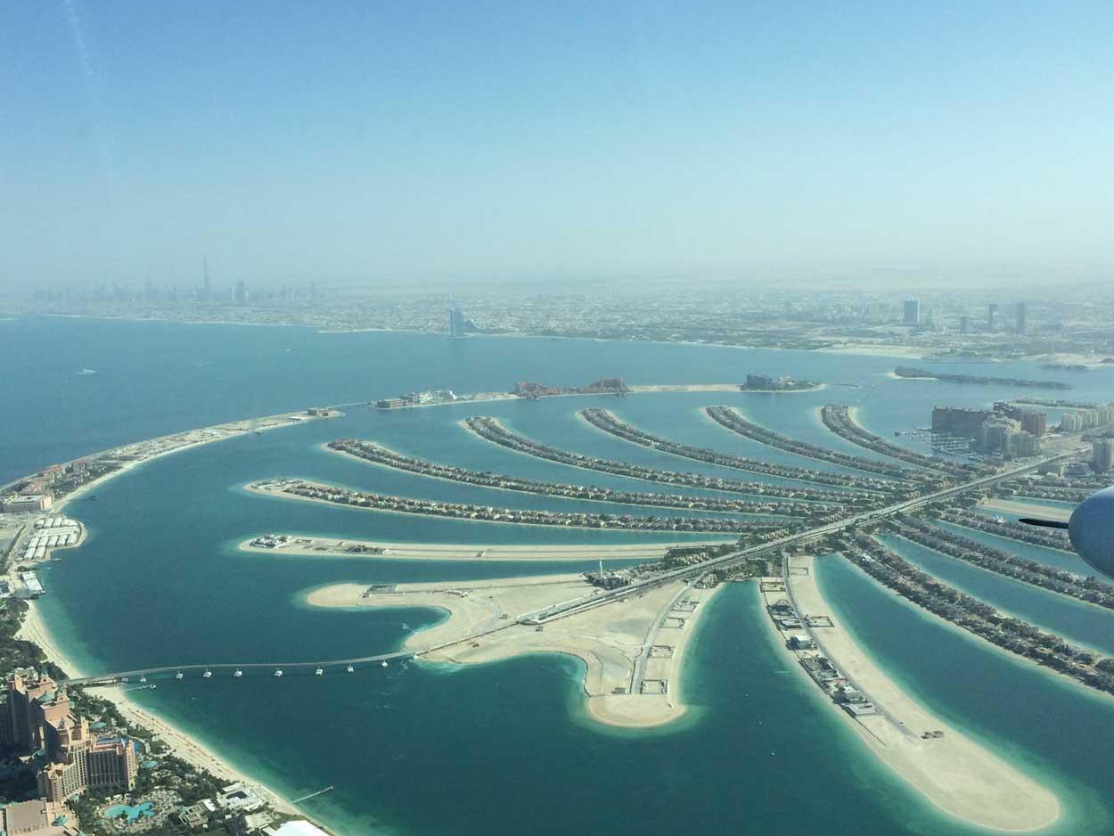 Vista aerea de Palm Jumeirah Dubai