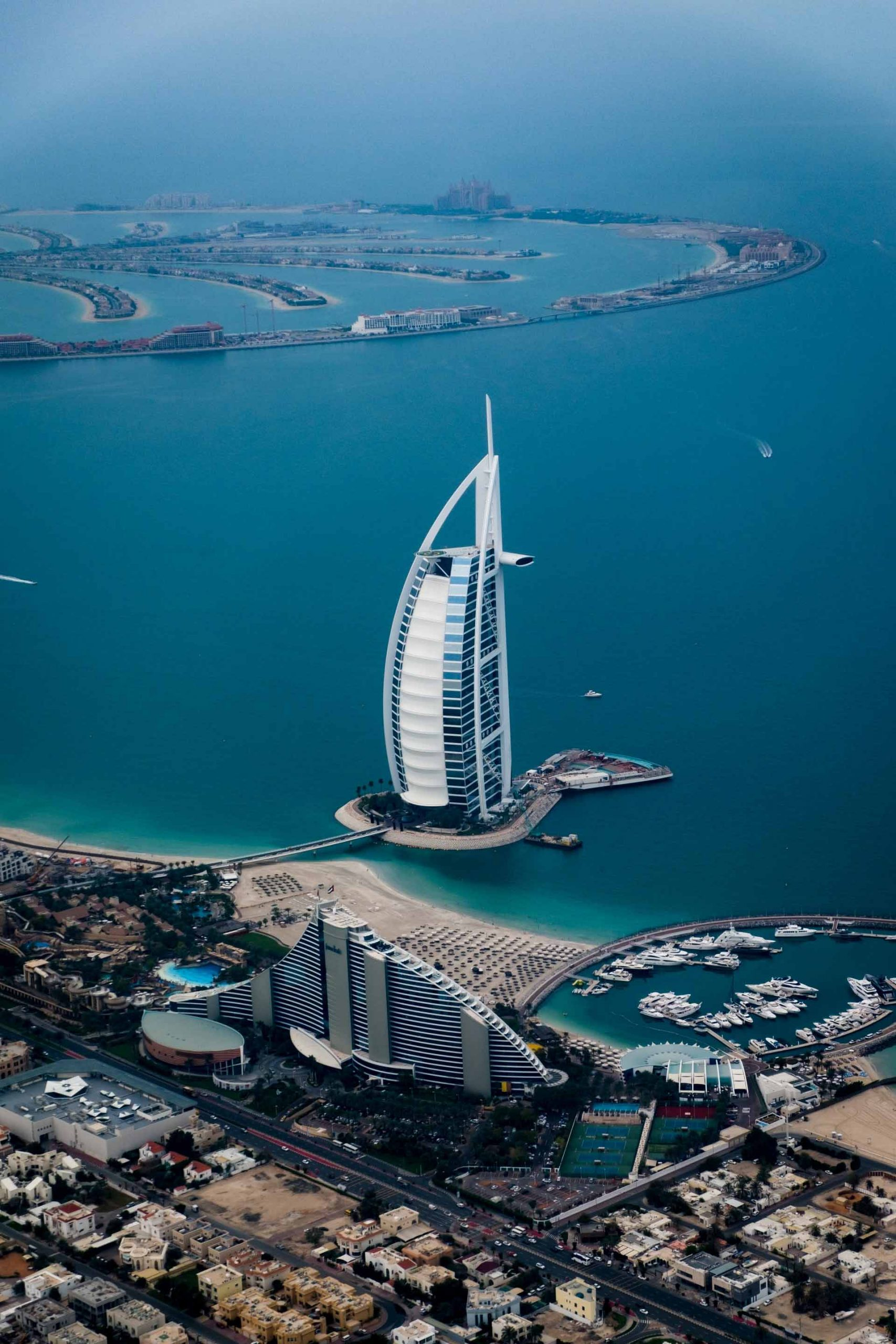 Vista del hotel burj al arab Dubai
