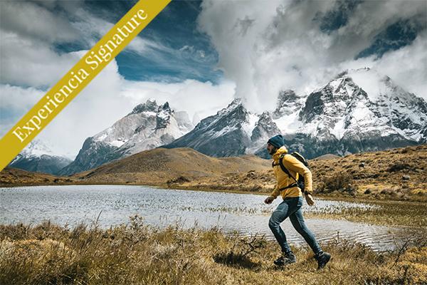 Torres del paine Hombre caminando Argentina