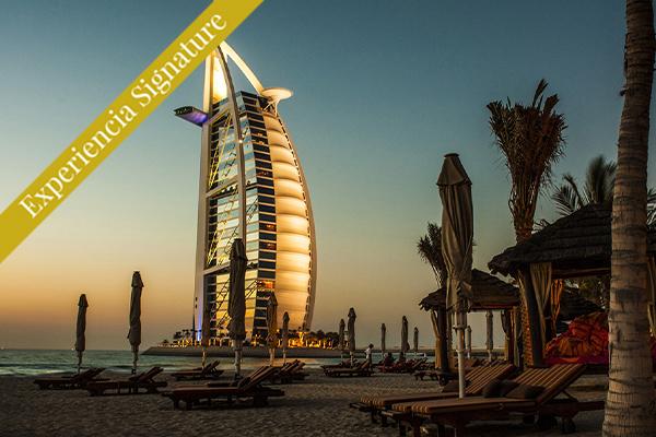 Atardecer en las playas Emiratos Arabes unidos Dubái