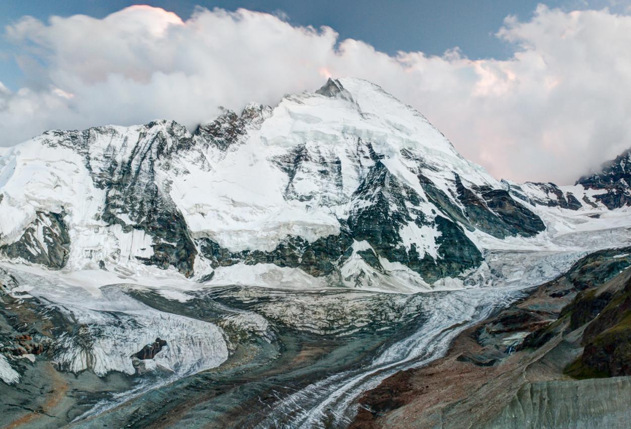 El glaciar de Suiza
