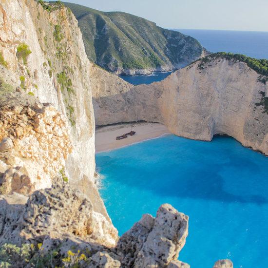 La bahia de la playa Islas Griegas