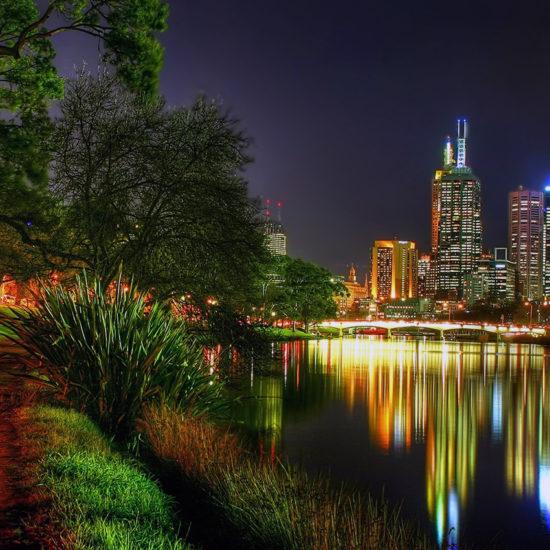 Melbourne de noche Australia