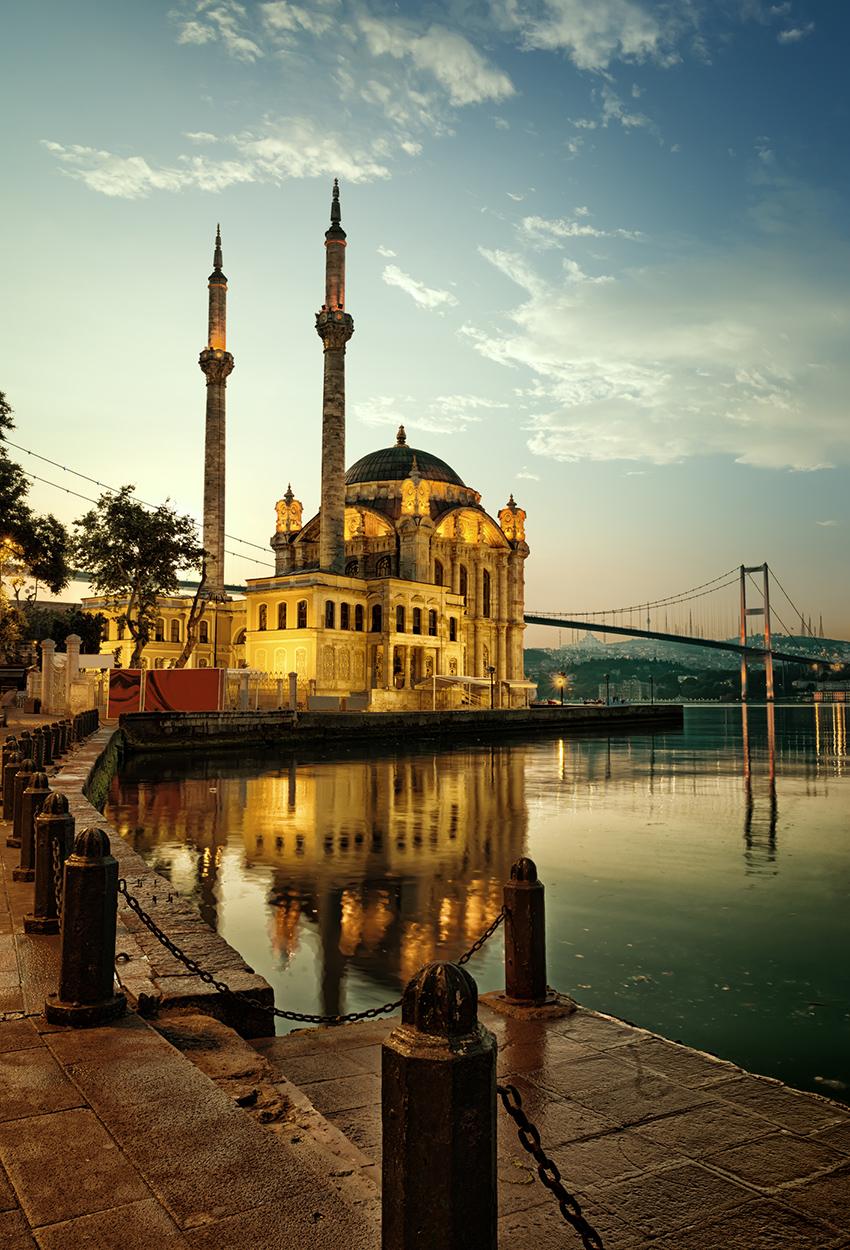 Mezquita y puente del Bósforo