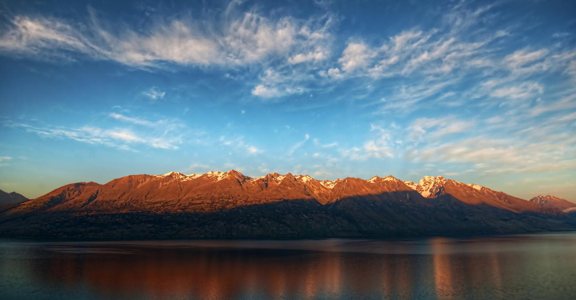 Montanas en el camino a Glenorchy de Queenstown Nueva Zelanda