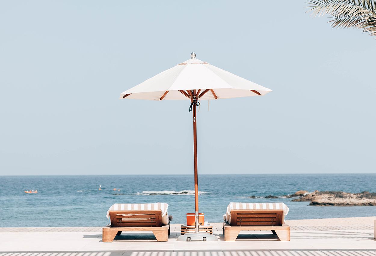 Vista de la playa en Oman