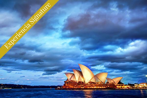 Sidney brilla en el atardecer Australia