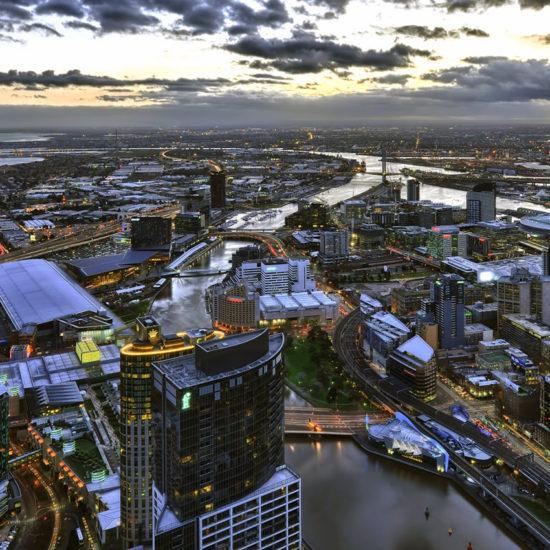 Vista Aerea de Melbourne Australia