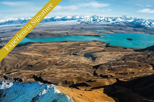 Vista del Lago Tekapo Nueva Zelanda