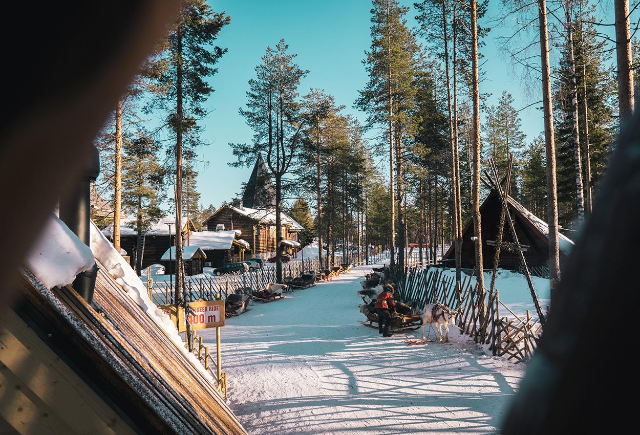 caminos nevados por Finlandia