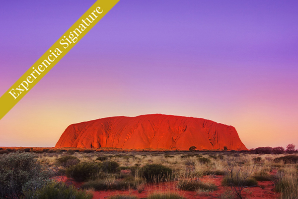 roca uluru Australia signature