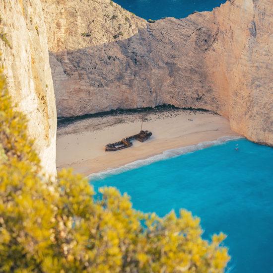 vista de la bahia de la playa Islas Griegas