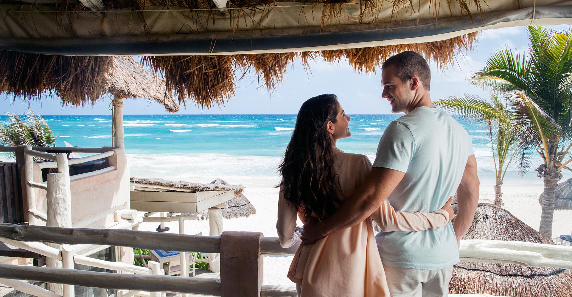 Pareja en Cancún