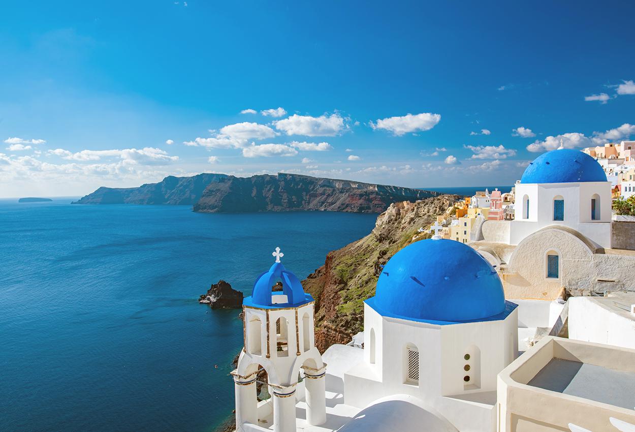Vista de Santorini Grecia