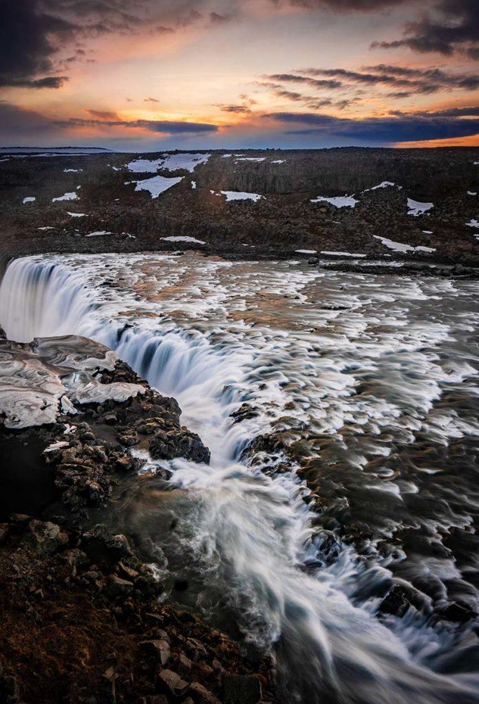 Dettifoss al amanecer Islandia