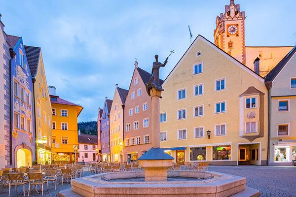 El centro de la ciudad de Füssen ASIVIAJO