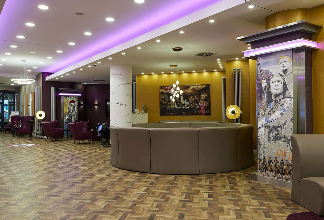 Hollywood Media Hotel Berlin Alemania Lobby