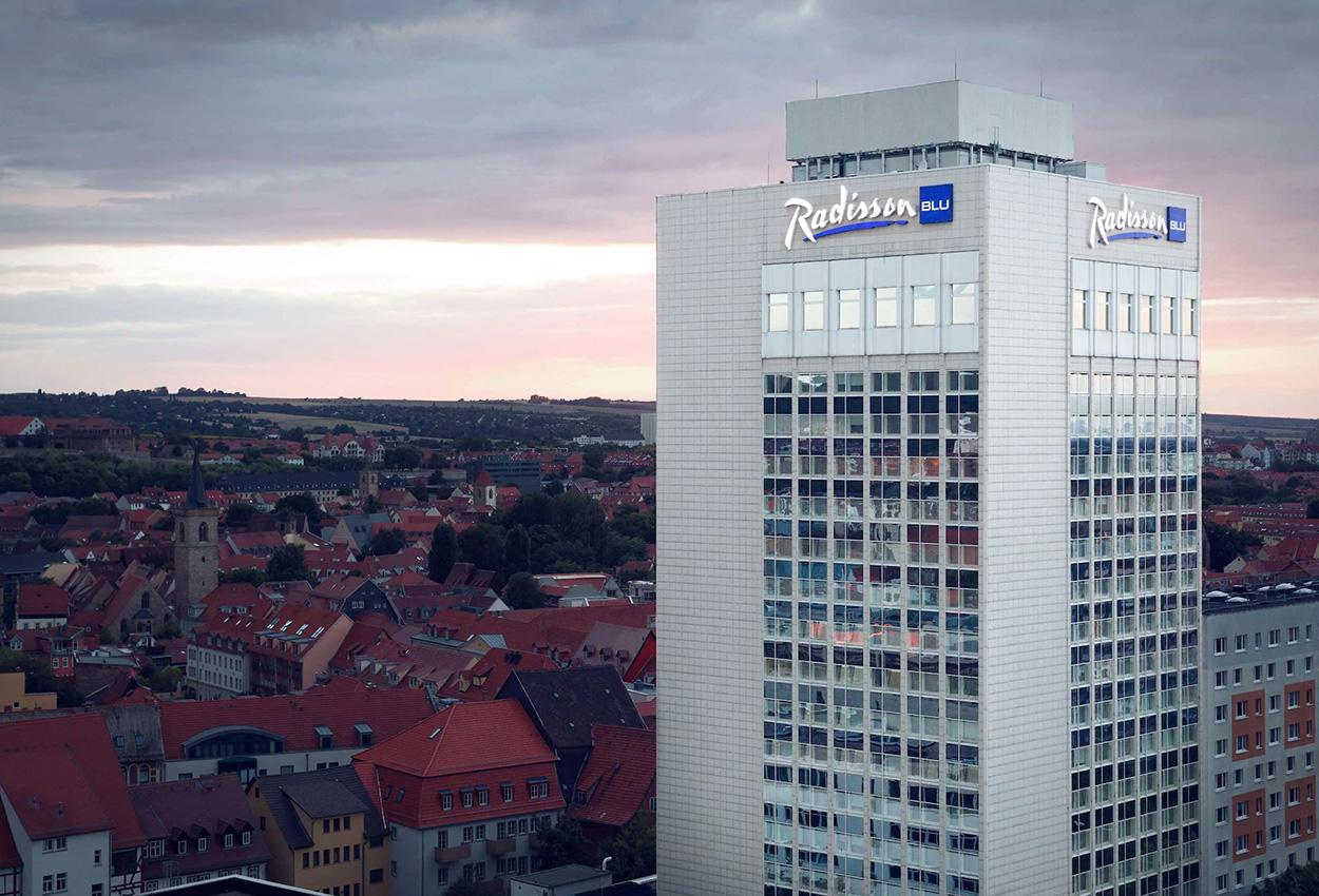 Radisson Blu Hotel Erfurt Alemania Fachada