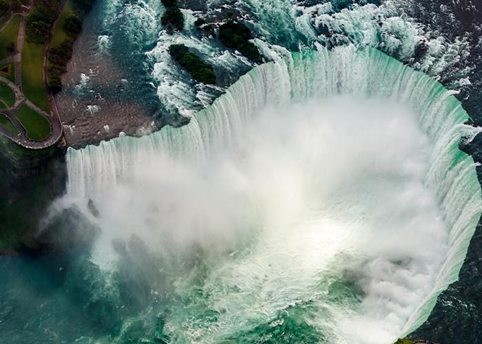 Vista de las Cataratas del Niagara Canada