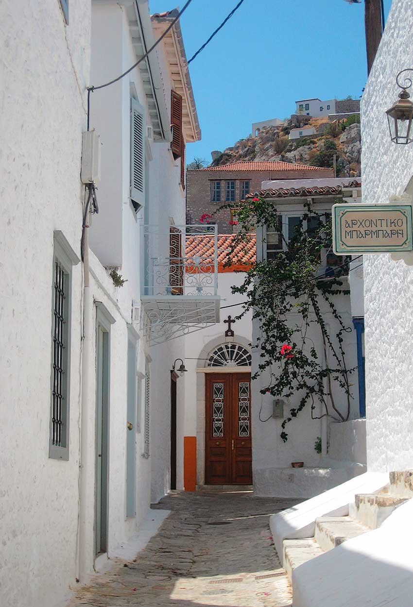 Calles Mykonos Grecia