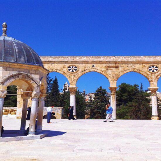 La Mezquita Al-Aqsa en la Ciudad Vieja de Jerusalen