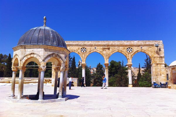 La Mezquita Al-Aqsa en la Ciudad Vieja de Jerusalen Asiviajo
