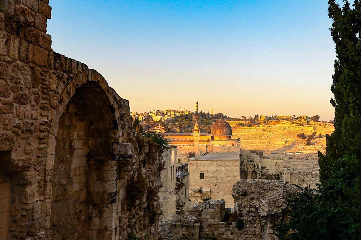 Vista de Jerusalem Israel