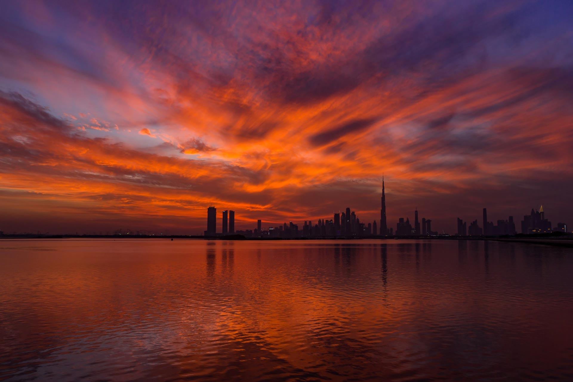 Atardecer en Dubai