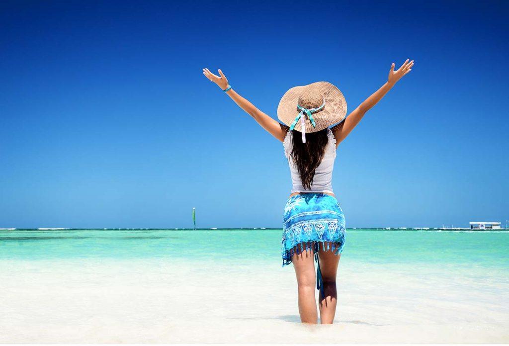 Chica en playas de Punta Cana Rep Dominicana