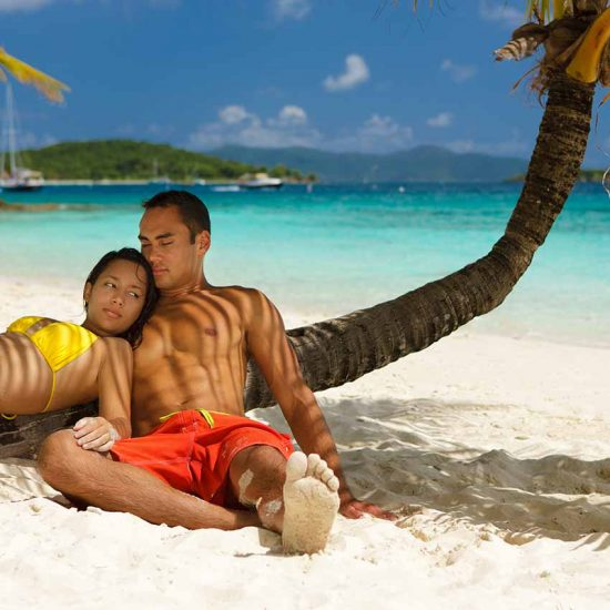 Pareja en playas de Punta Cana Rep Dominicana